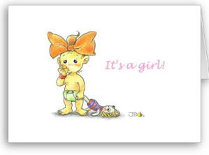 Baby girl Greeting Card from Zazzle.com_1246170361726