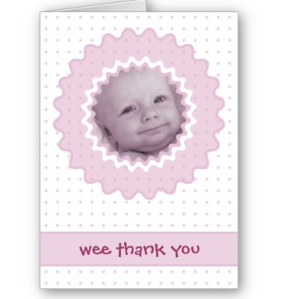 Cutietoots Thank You Note template Card from Zazzle.com_1244710668733