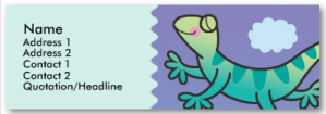Kids Leaping Lizard Skinny Profile Cards from Zazzle.com_1246084281679