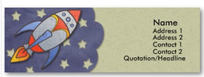 Retro Rocket Kids Skinny Profile Cards from Zazzle.com_1245392718157