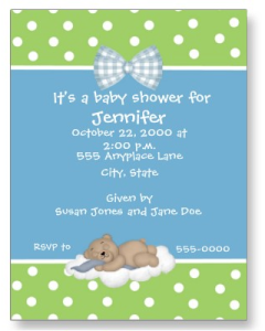 Teddy Bear Baby Shower Invite Postcard from Zazzle.com_1246343267183