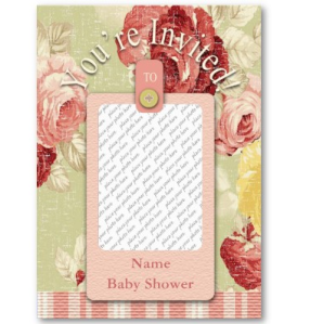 Vintage Floral Invitation Gift Tag Business card from Zazzle.com_1244442528894