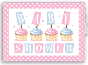 Cupcake Baby Shower Invitation Card from Zazzle.com_1249024306643