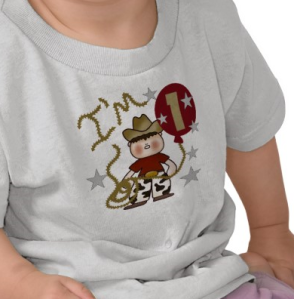 Cowboy First Birthday T-shirt from Zazzle.com_1250493938015