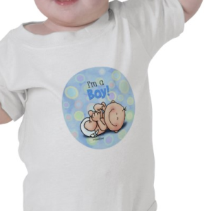 I'm a Boy - new baby infant onesie T-shirt from Zazzle.com_1250403939404