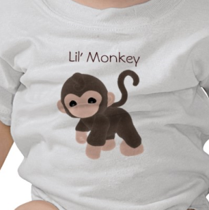 KRW Lil' Monkey T-shirt from Zazzle.com_1249200791411