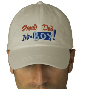 Proud Dad - Boy Embroidered hat from Zazzle.com_1249280950340